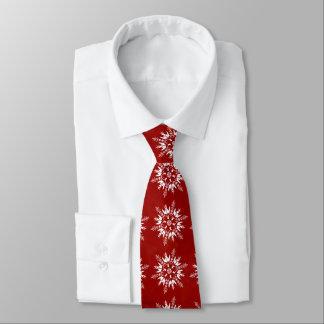 Gravata Flocos de neve no vermelho