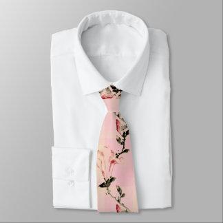 Gravata Flor cor-de-rosa