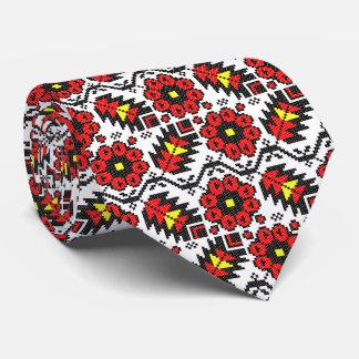 Gravata Flor floral do ponto de cruz da arte do folclore