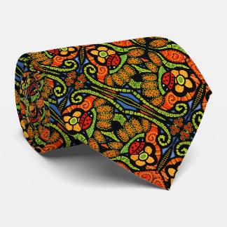 Gravata Flores coloridas das bolinhas do teste padrão do