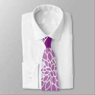 Gravata Flores do áster do vintage. roxo, lilac, violeta