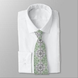 Gravata Flourish Rococo verde do teste padrão
