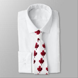 Gravata Folha de bordo vermelha