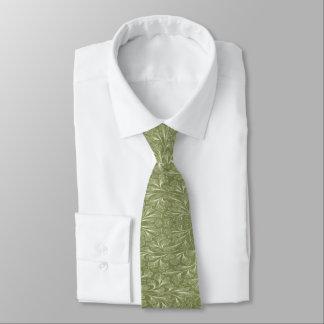 Gravata Folhas do biloba da nogueira-do-Japão no verde do