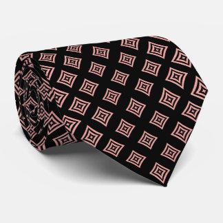 Gravata Formas geométricas do brilho cor-de-rosa do ouro