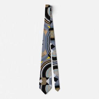 Gravata Formas geométricas do jazz de Pochoir do art deco