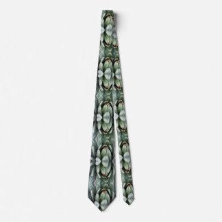 Gravata Fractal da foto da planta verde do aloés no laço
