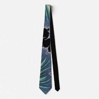 Gravata Fractal de 888 hortelã/lavanda