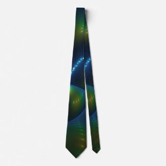 Gravata Fractal do amarelo do verde azul do abstrato das