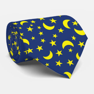 Gravata Fundo do azul da lua e das estrelas