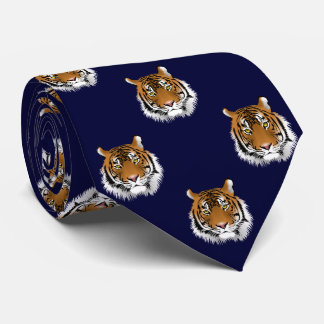 Gravata Fundo escuro dos azuis marinhos do tigre