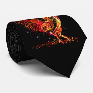 Gravata Galo do fogo. Design legal da faísca animal