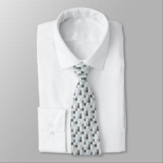 Gravata Gamer cinzento e branco do teste padrão | de