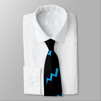Gravata Greve azul do relâmpago do laço do relâmpago