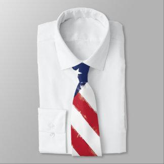 Gravata Grunge velho patriótico da bandeira americana