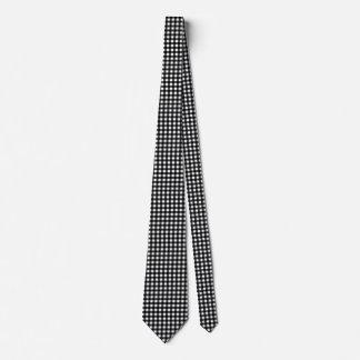Gravata Guingão preto e branco customizável