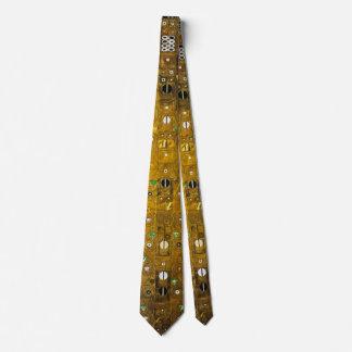 Gravata Gustavo Klimt - laço dourado para amantes da arte