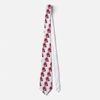 Gravata Hollyhock cor-de-rosa