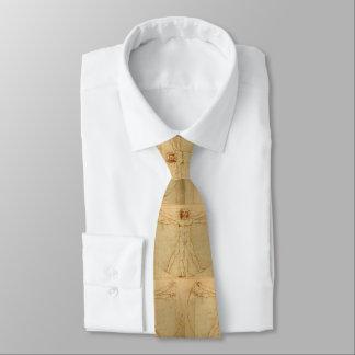 Gravata Homem de da Vinci Vitruvian