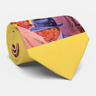 Gravata homens dos anos 40 nos chapéus
