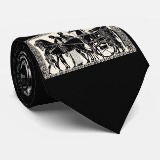 Gravata homens e impressão romanos antigos dos cavalos