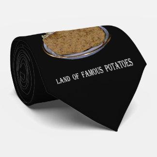"""Gravata Idaho """"terra de batatas famosas""""."""