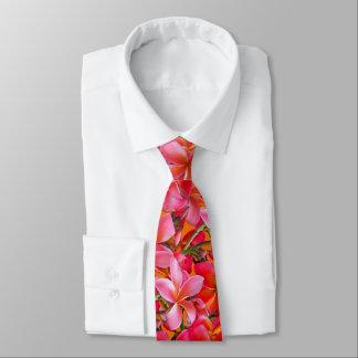 Gravata Impressão havaiano alaranjado cor-de-rosa