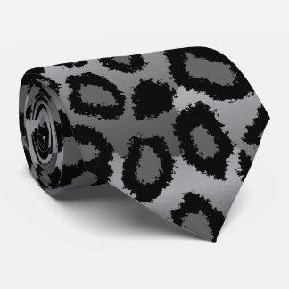 Gravata Impressão preto e cinzento de Jaguar