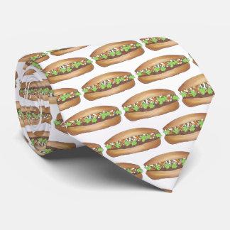 Gravata Impressão vietnamiano de Foodie do sanduíche de
