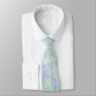 Gravata Íris Pastel Asiático-Inspiradas no azul
