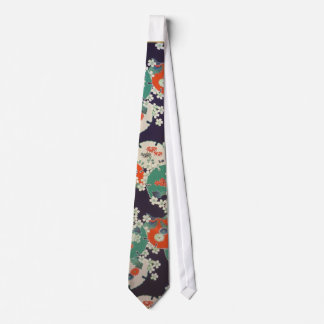 Gravata Japanese Botanical pattern tie