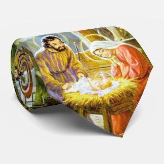 Gravata Jesus na natividade do Natal do comedoiro