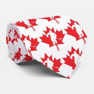 Gravata Jogador da folha de bordo do hóquei de Canadá