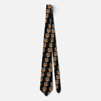 Gravata Kawaii/laço bonito do pescoço do preto do urso