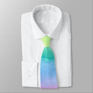 Gravata Laço abstrato da aguarela do arco-íris por Ozias