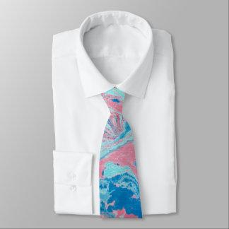 Gravata Laço abstrato dos homens do azul e do rosa
