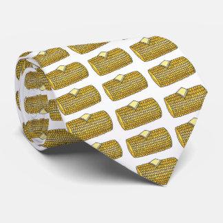 Gravata Laço amarelo do Corncob da comida do piquenique da