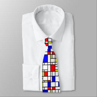 Gravata Laço azul amarelo vermelho do pescoço do teste