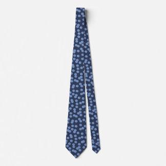 Gravata Laço azul das bolinhas