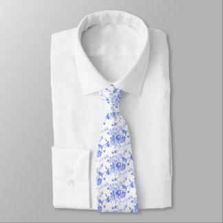 Gravata Laço azul do impressão de Florale