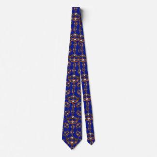Gravata Laço azul do teste padrão da tiara da coroa do