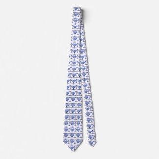 Gravata Laço azul dois das bolhas