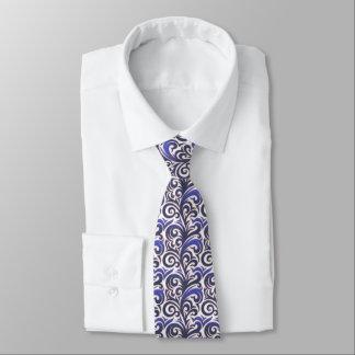 Gravata Laço azul elegante do teste padrão do Verdure