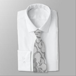 Gravata Laço branco de prata cinzento urbano moderno