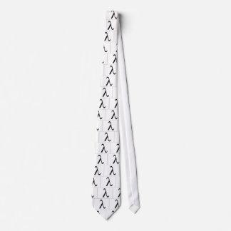 Gravata Laço (branco) do símbolo do Lambda