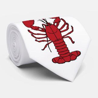 Gravata Laço branco vermelho da lagosta bonito