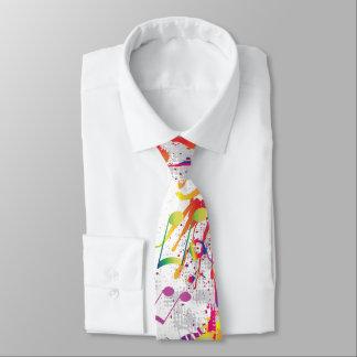 Gravata Laço brilhante colorido animador das notas da