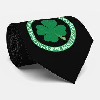 Gravata Laço celta do trevo do dia de St Patrick preto