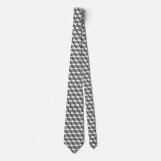 Gravata Laço cinzento/cinzento do cubo
