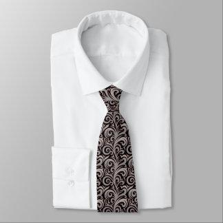 Gravata Laço cinzento elegante do teste padrão do Verdure
